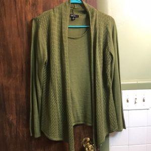 Women's mock layer sweater